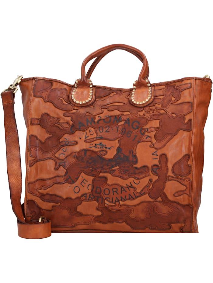 campomaggi - Handtasche Leder 32 cm  cognac