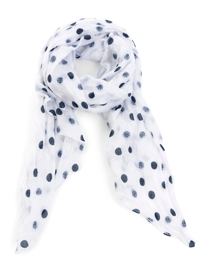 Sjaal Alba Moda wit/blauw