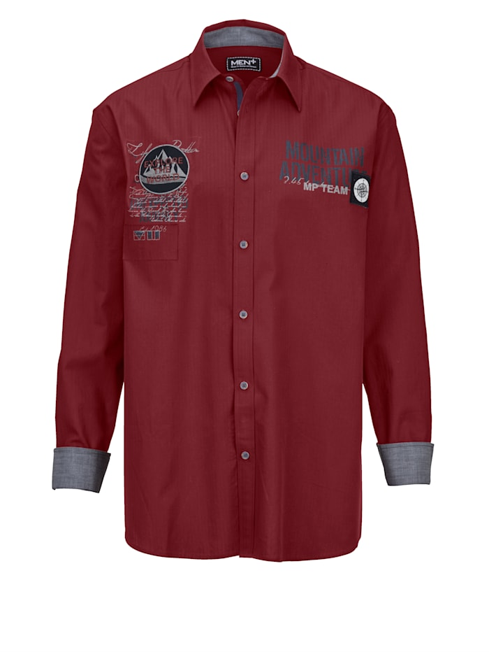 Overhemd Men Plus Rood