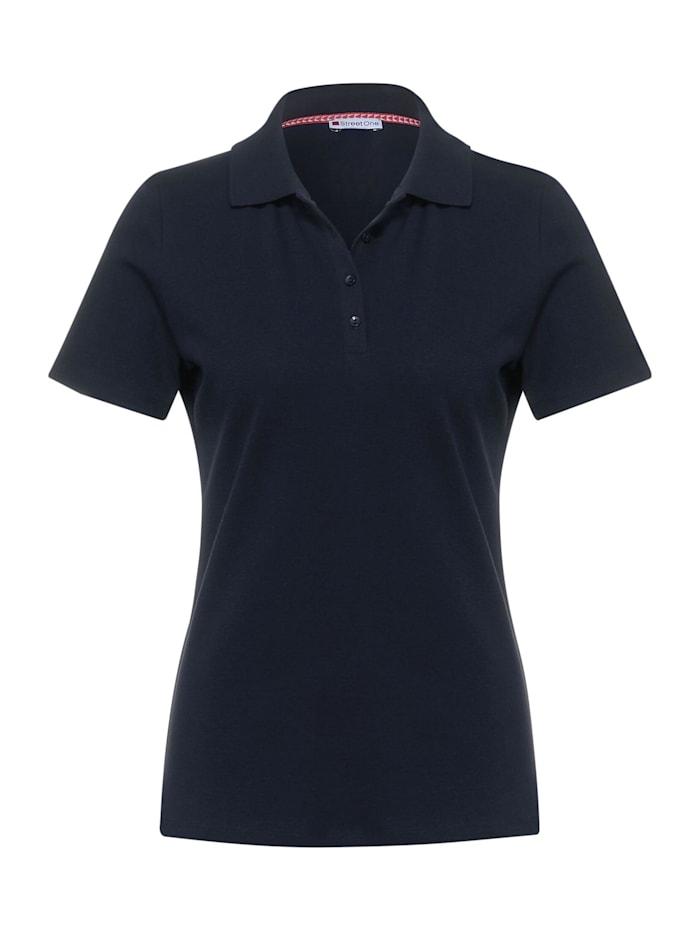 street one - Poloshirt in Unifarbe  deep blue