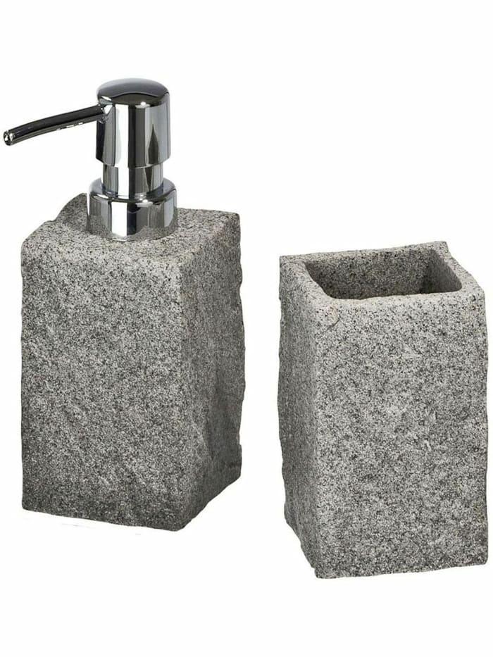 Image of Bad-Accessoire-Set Granit, 2-teilig Wenko Grau