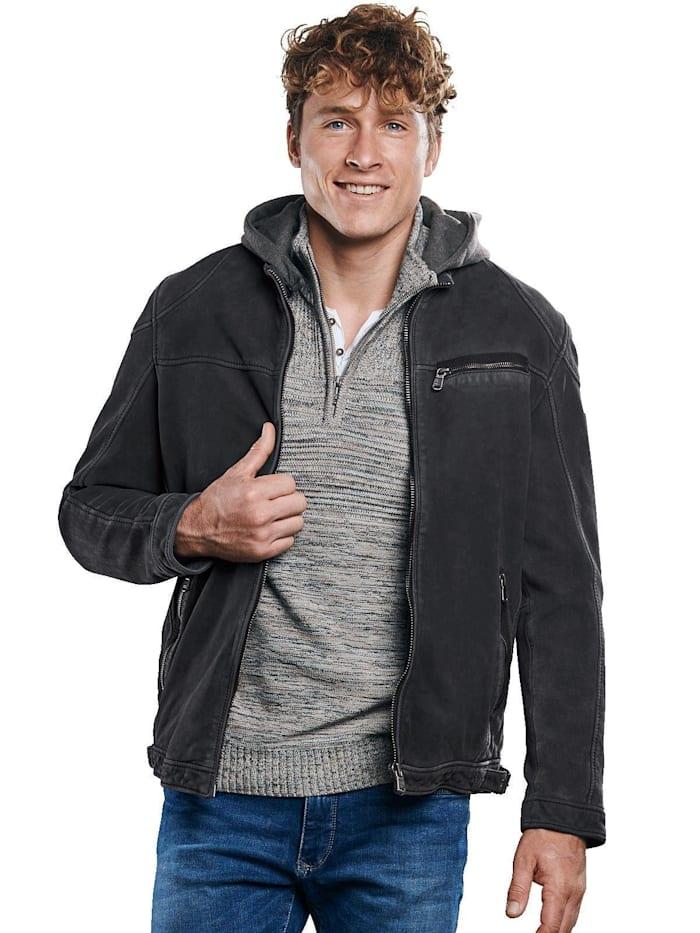 engbers - Lederjacke mit gewaschener Oberfläche  Indigoblau