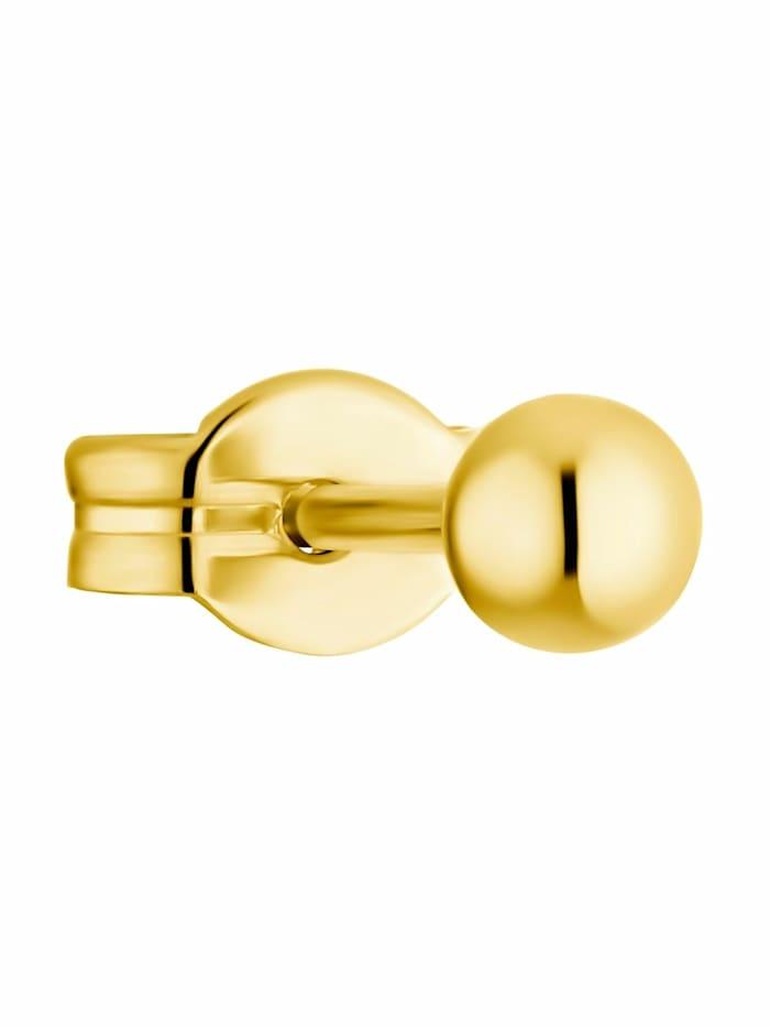 amor - Single Ohrstecker für Damen, 375 Gold  Gold