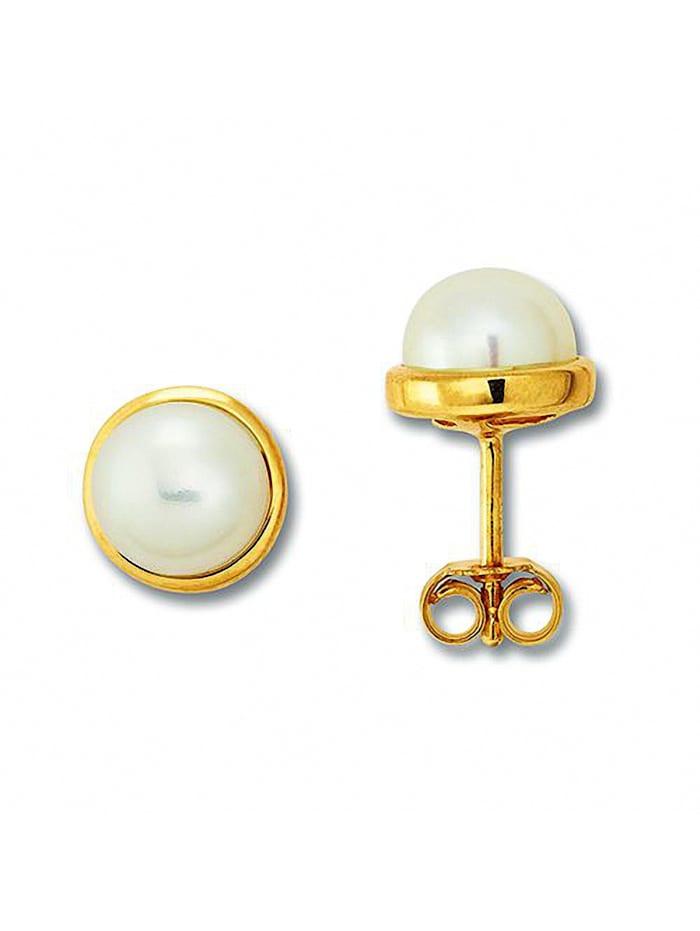 one element - Damen Schmuck Ohrringe / Ohrstecker aus 333 Gelbgold  gold
