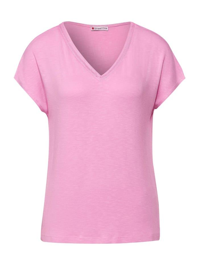 street one - T-Shirt mit Strick Detail  pearl rose