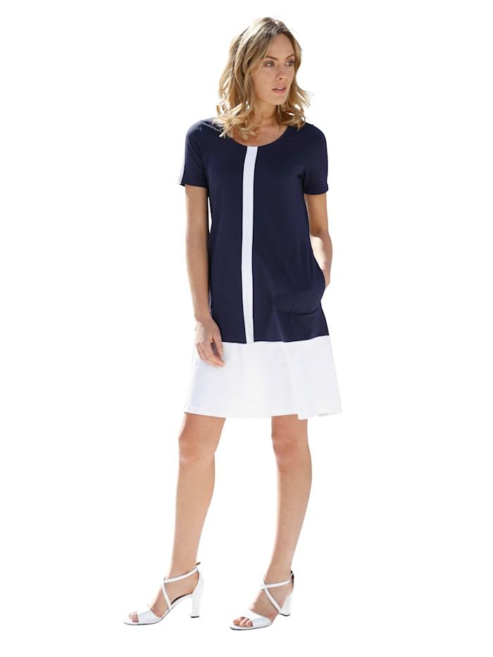 Jersey jurk AMY VERMONT Marine::Wit