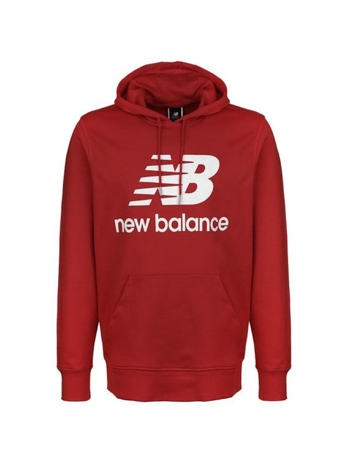 new balance -  Hoodie Essentials Stacked Logo PO  Rot