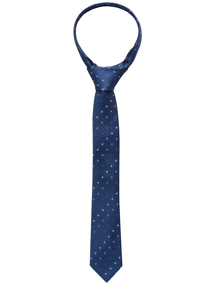 eterna - Krawatte schmal getupft  lila