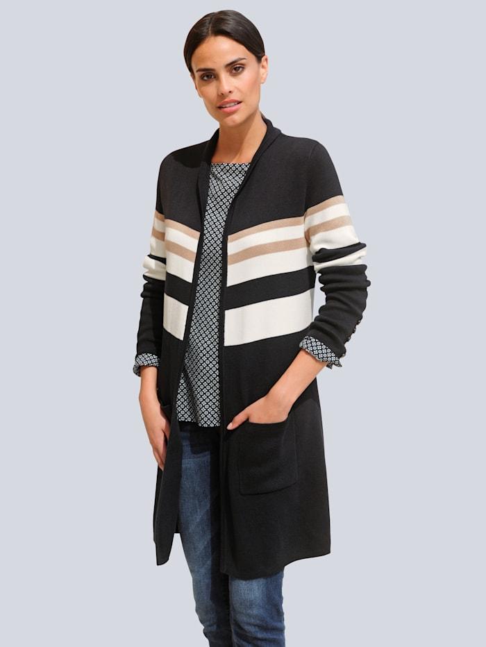 Vest Alba Moda Zwart::Beige::Offwhite