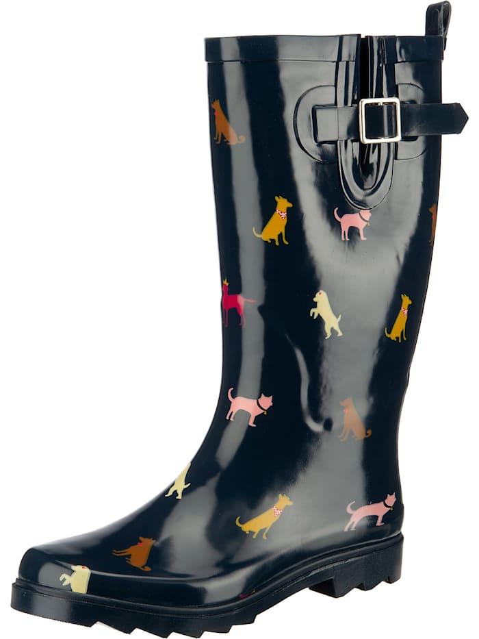 inselhauptstadt - Fashion Rubberboots, Gummistiefel mit Weitenversteller  dunkelblau