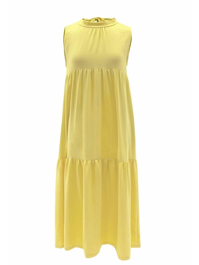 wisell - Sommerkleid Sommerkleid mit Schleife im Rücken  gelb