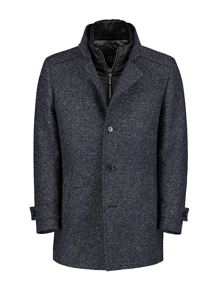 lavard - Mantel aus Melange-Stoff von höchster Qualität  blau