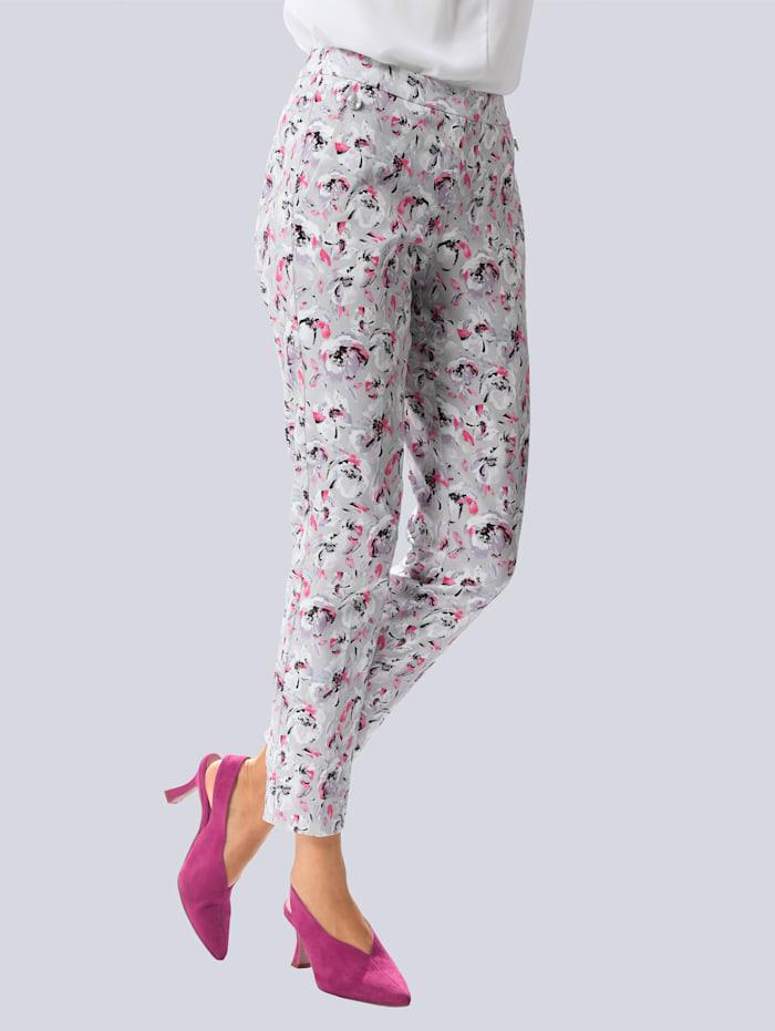 Broek Alba Moda Grijs::Pink