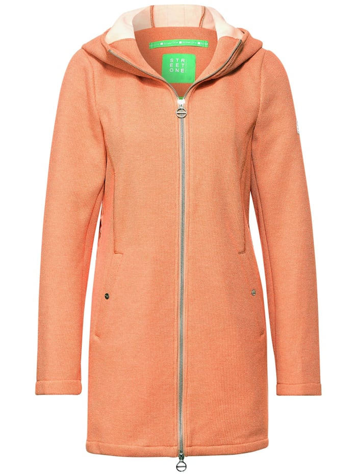 street one - Softe Jacke mit Kapuze  tender peach