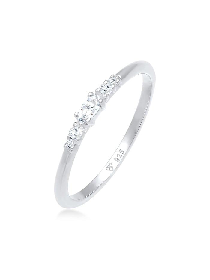 elli - Ring Zirkonia Marquise Elegant Verlobung 925 Silber  Silber