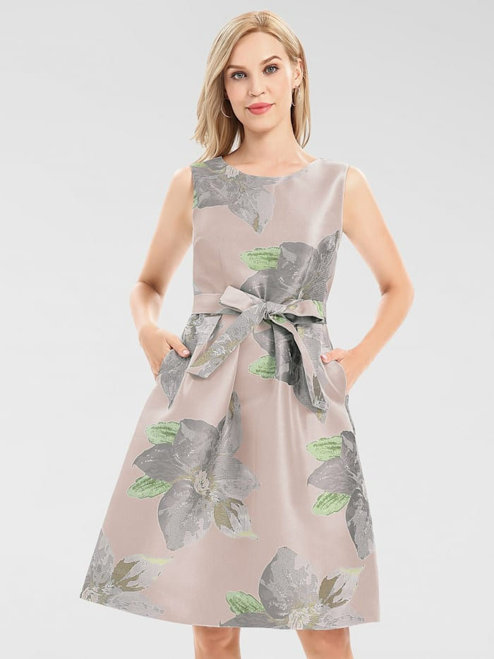 apart - Jacquard-Kleid mit Blumenmuster  mauve-multicolor