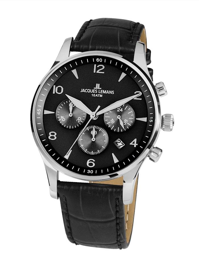 jacques lemans - Herren- Uhr Chronograph  Schwarz