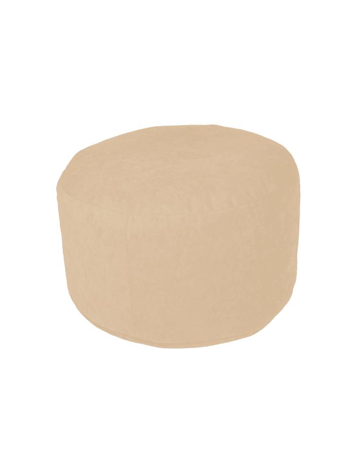 Sitzkissen Hocker Pouf uni Ø47/34 cm Linke Licardo beige