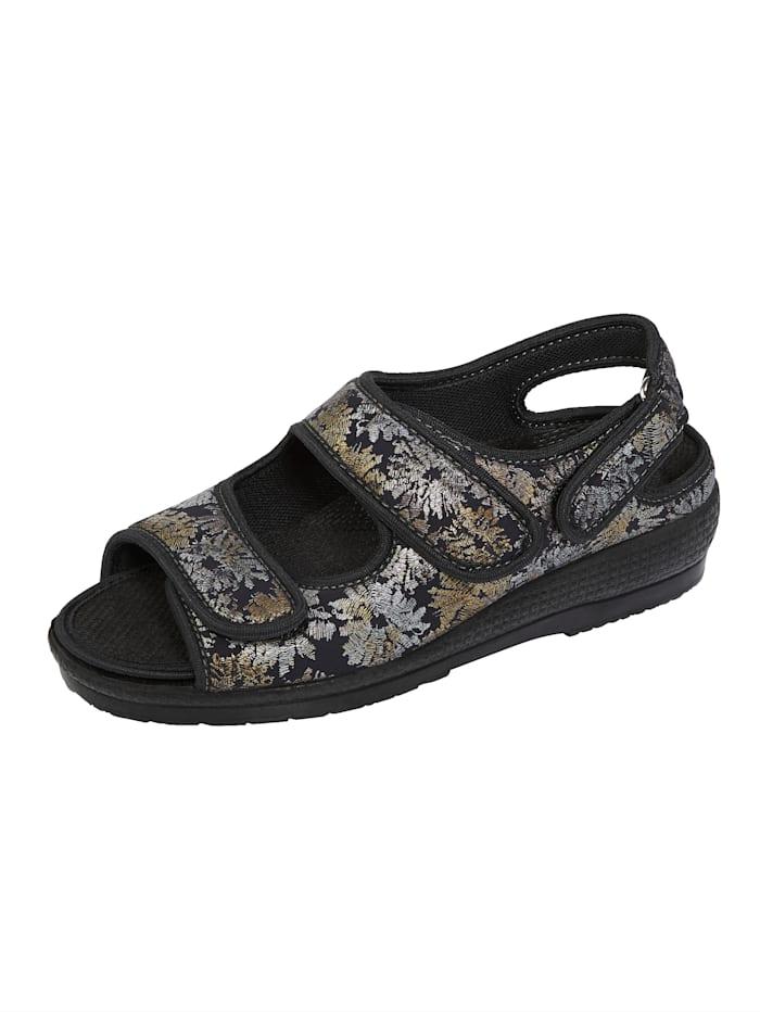 Sandaaltje OrthoMed Zwart