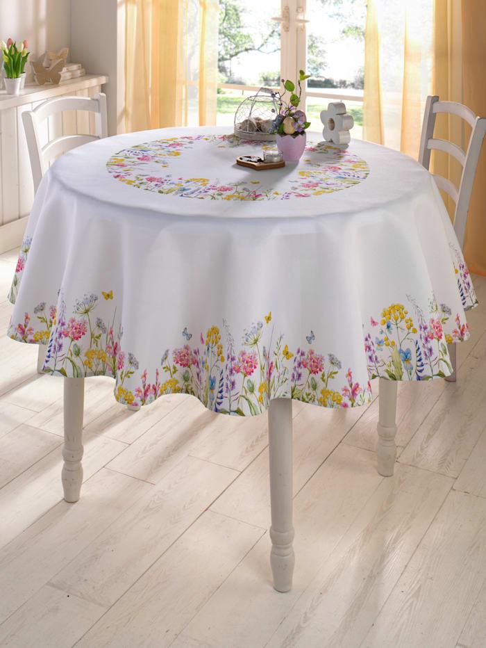 Tafellinnen Frida Webschatz wit/multicolor