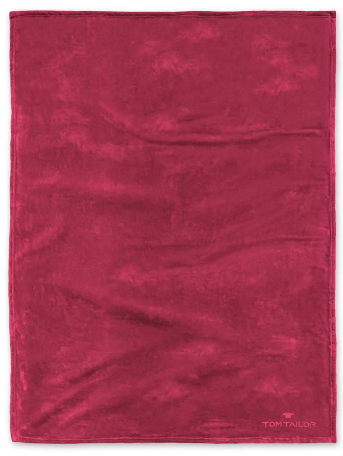 Image of Angorina-Fleece Decke Tom Tailor rot