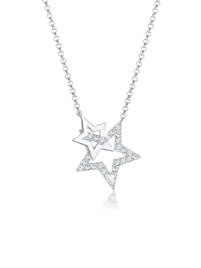 elli - Halskette Stern Astro Swarovski® Kristalle 925 Silber  Silber