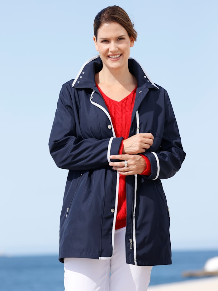 Jacke m. collection Marineblau Weiß
