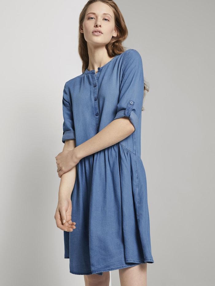tom tailor denim - Geknöpftes Jeanskleid mit Raffungen  Blue Denim