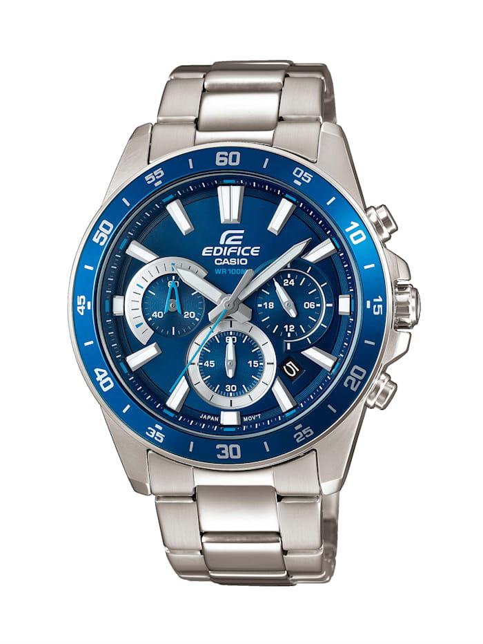 casio - Herren-Uhr Chronograph  Silberfarben