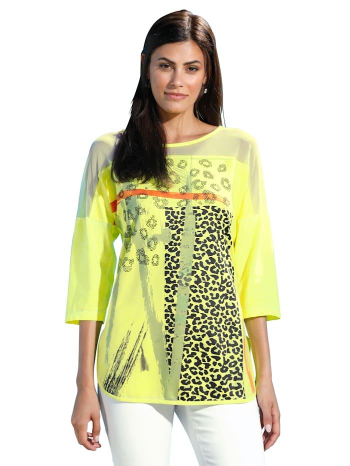 Shirt AMY VERMONT Neongeel::Zwart