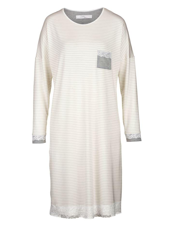 Nachthemd Ringella Ecru::Grau