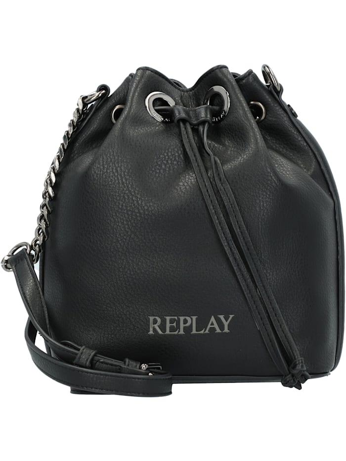 replay - Glam Basic Beuteltasche 19 cm  black