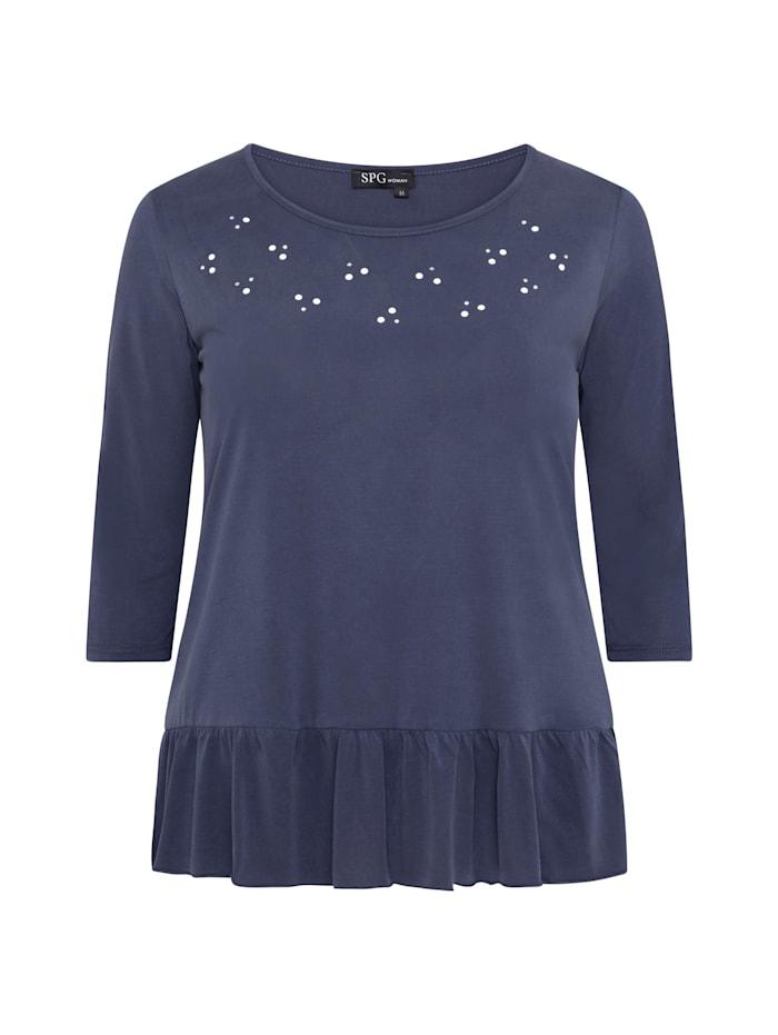 spgwoman - Shirt SHIRT MIT PERLEN  navy blue