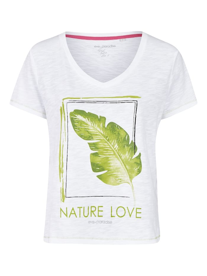 "eve in paradise - Zertifiziertes Print-Shirt Modell ""Gesa"" aus kbA-Baumwolle  Offwhite Print"