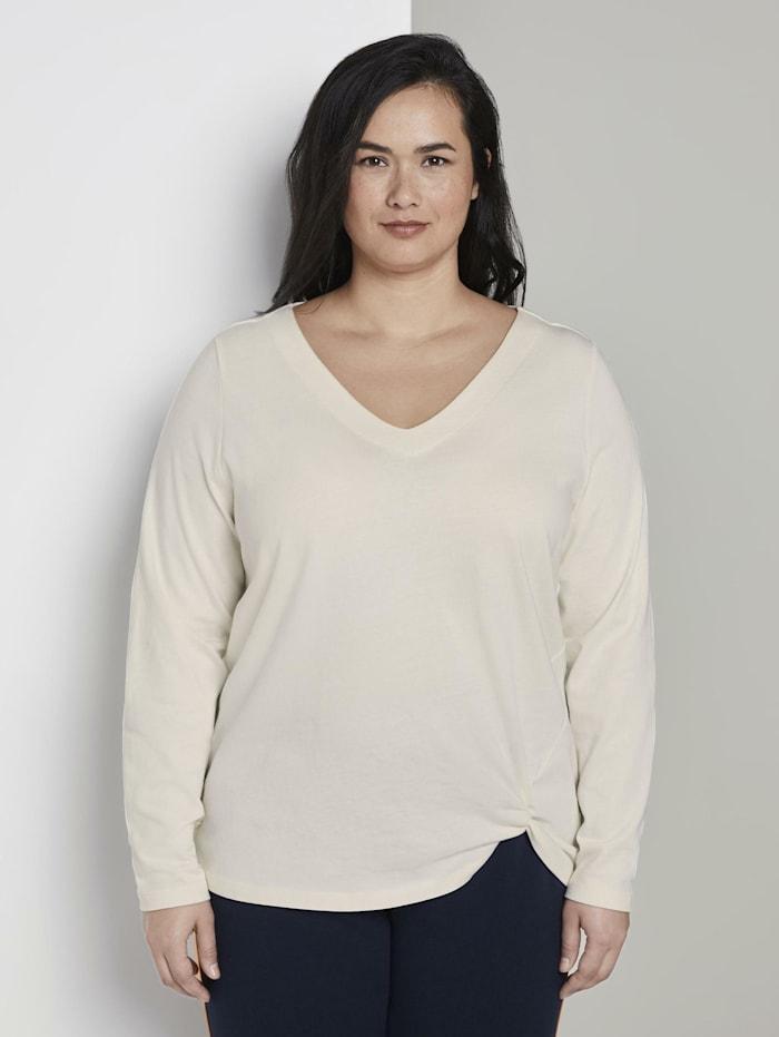 my true me by tom tailor - Sweatshirt mit Knoten-Detail  Whisper White