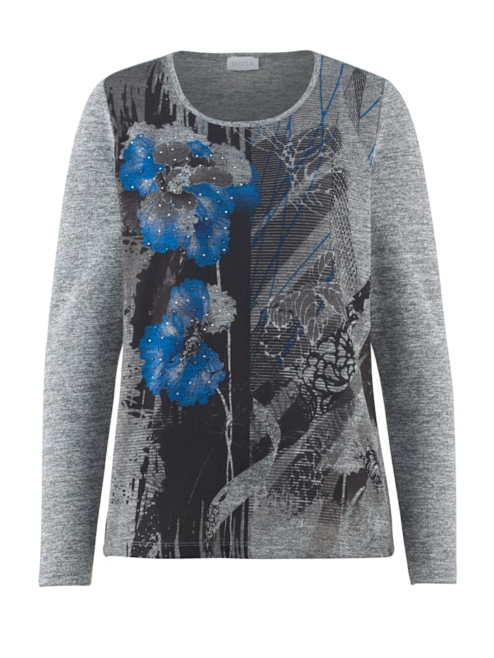 Shirt MONA Grijs::Blauw
