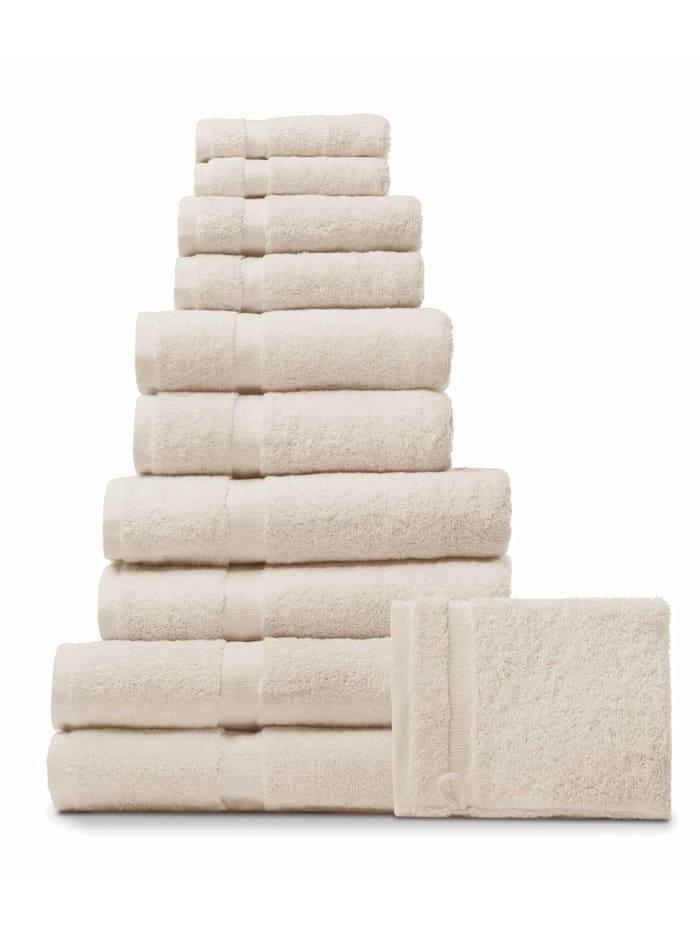 Handdoeken Rhomtuft ecru/jasmijn