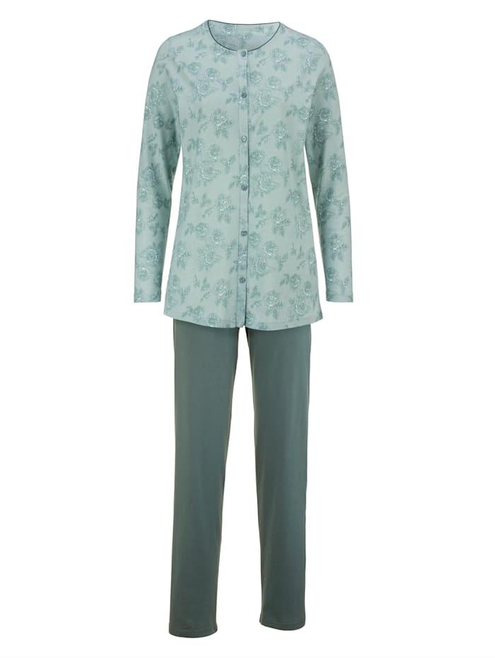 Schlafanzug Harmony grün ecru
