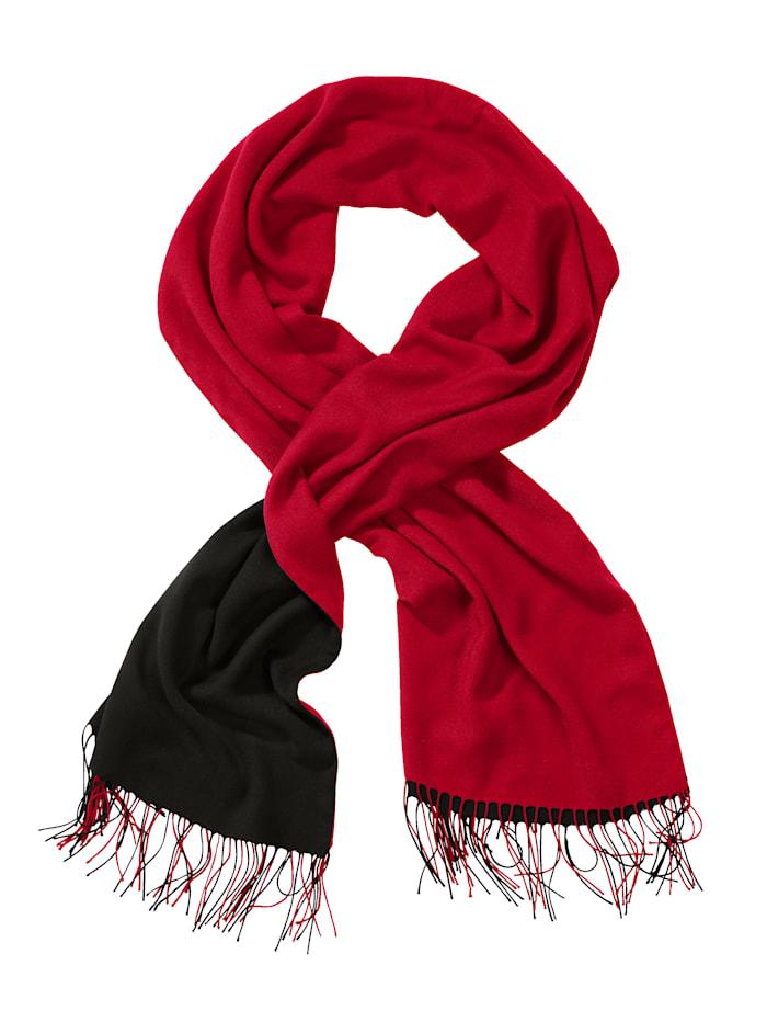 Sjaal Alba Moda rood/zwart