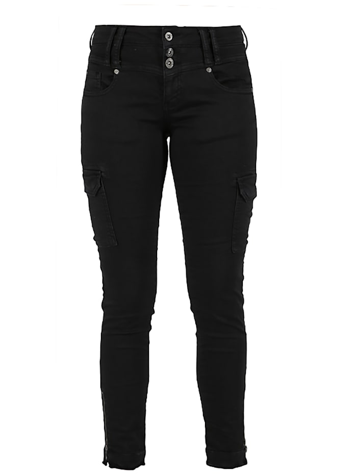 miracle of denim - Megan Slim Fit Cargo Hose  Black