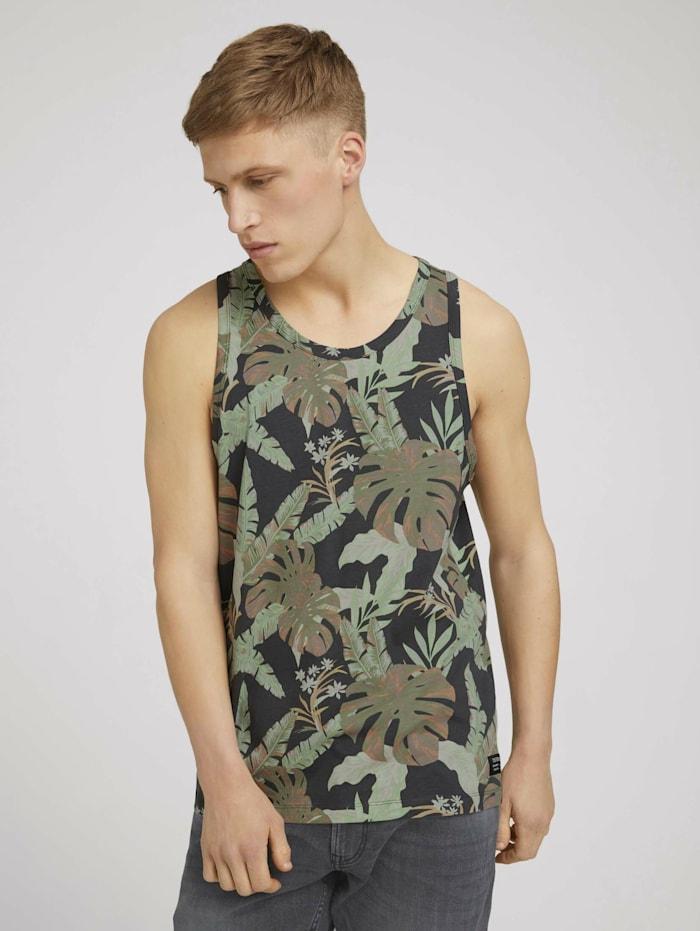 tom tailor denim - Tanktop mit Palmenprint  tropical monstera leaf print