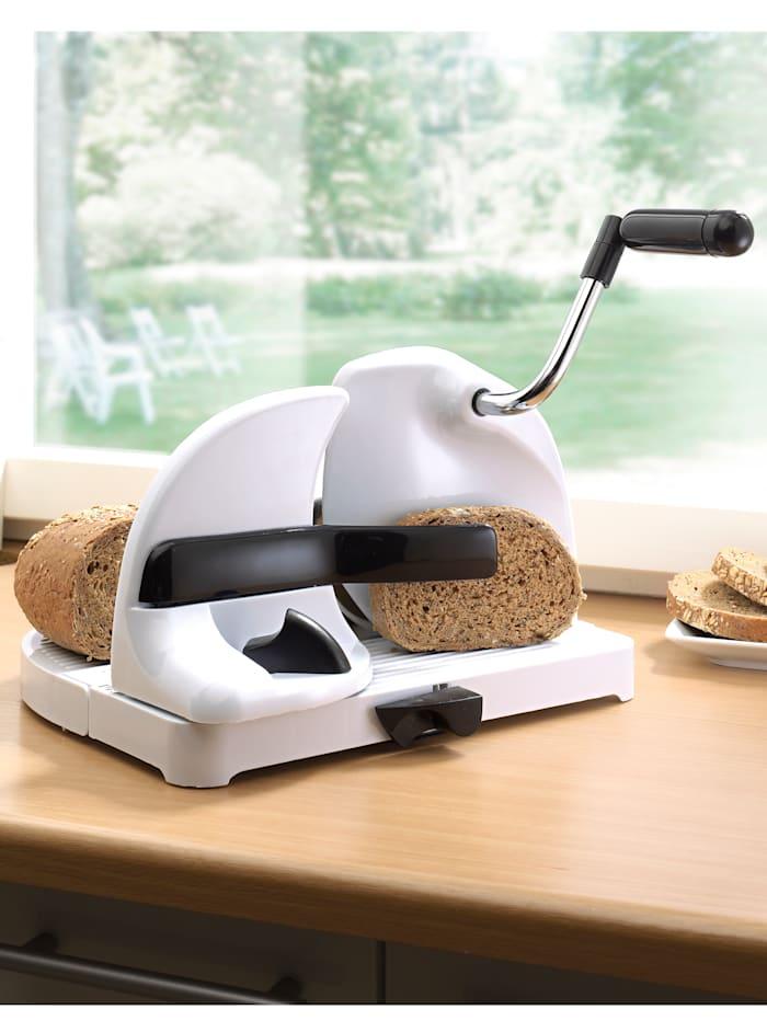 Brotschneidemaschine mit Handkurbel Wenko Weiß
