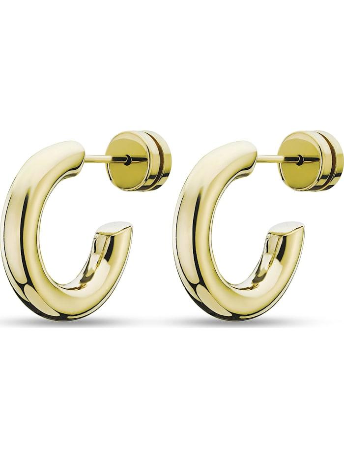 GMK Damen-Creolen Edelstahl Guido Maria Kretschmer gelbgold