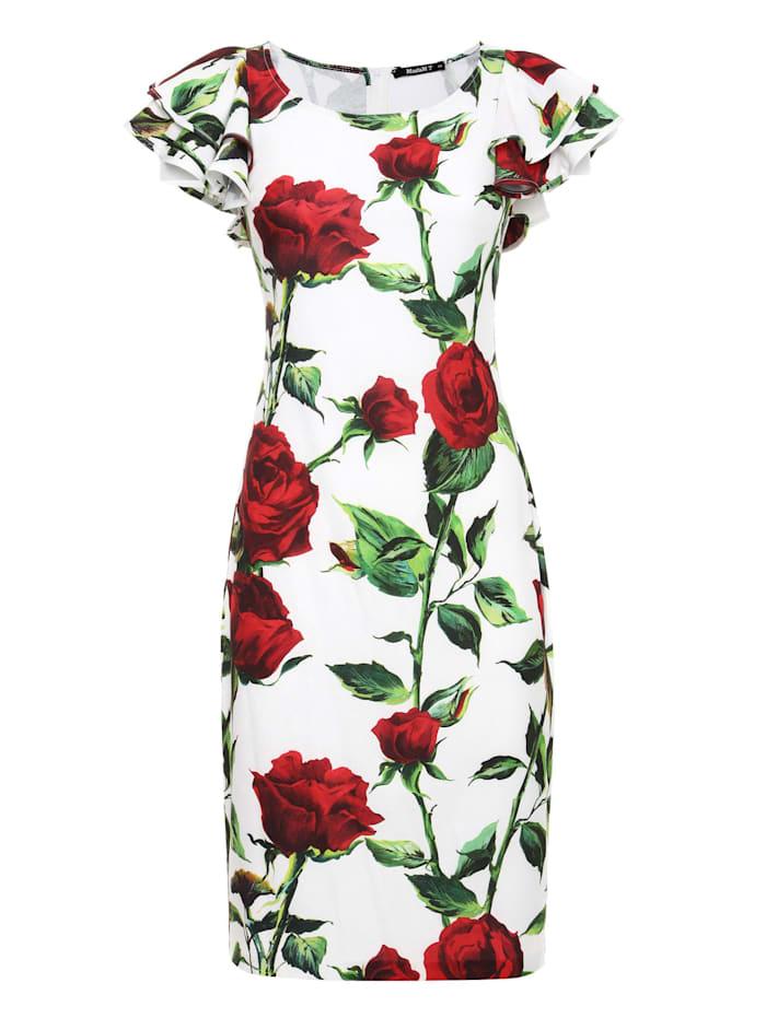 madam-t - Sommerkleid Baymara  milchig, rot