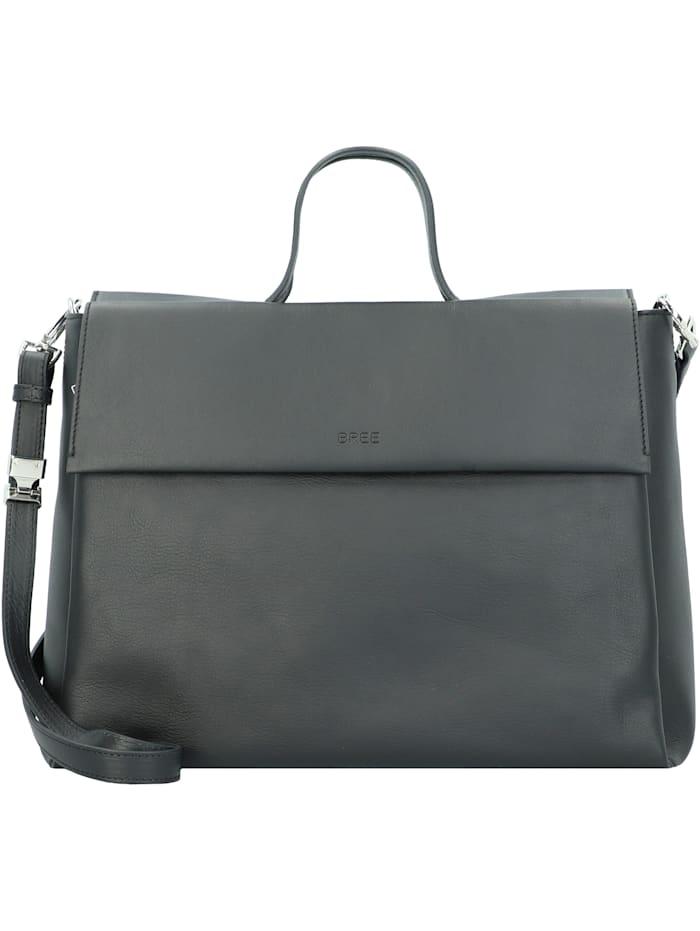 bree - Pure 8 Handtasche Leder 38 cm  black