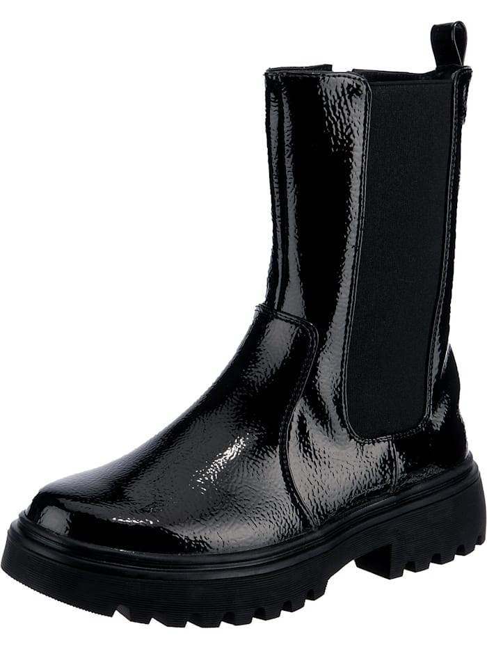 ambellis - Shiny High Chelsea Boot mit Zipper  schwarz Modell 1
