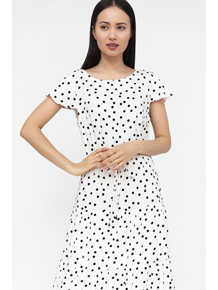 finn flare - Maxi-Kleid mit Punktemuster  white