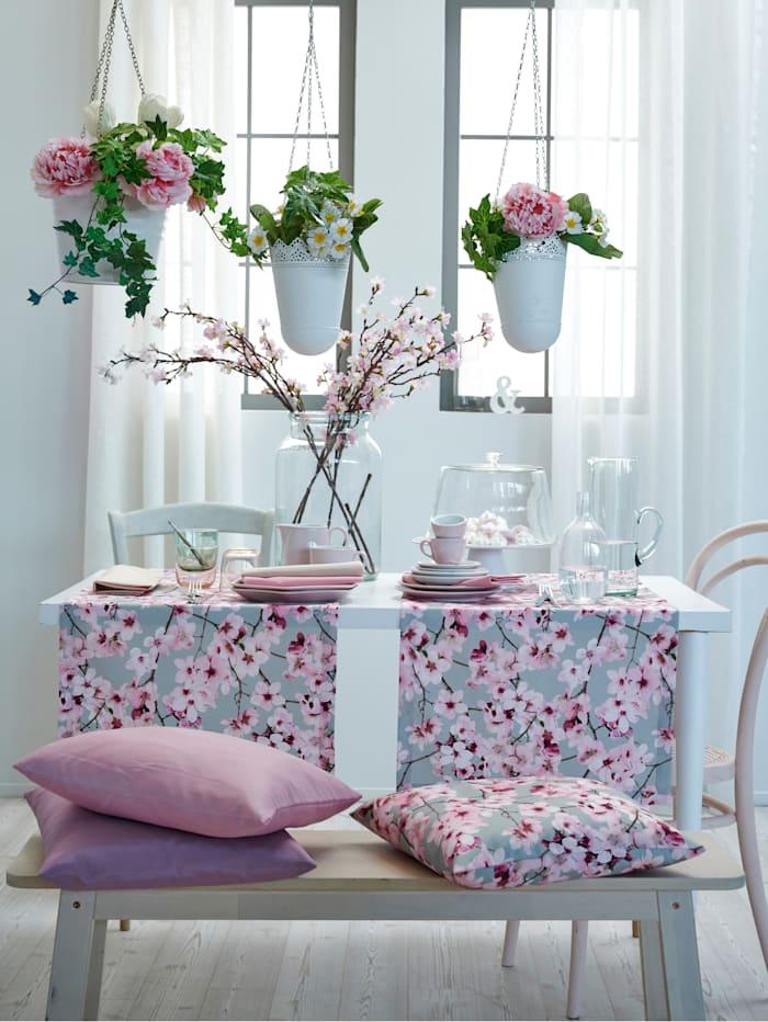 Tafellinnen Sekura Apelt grijs/roze
