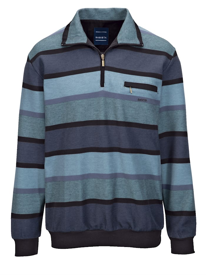 Sweatshirt BABISTA Blauw::Zwart