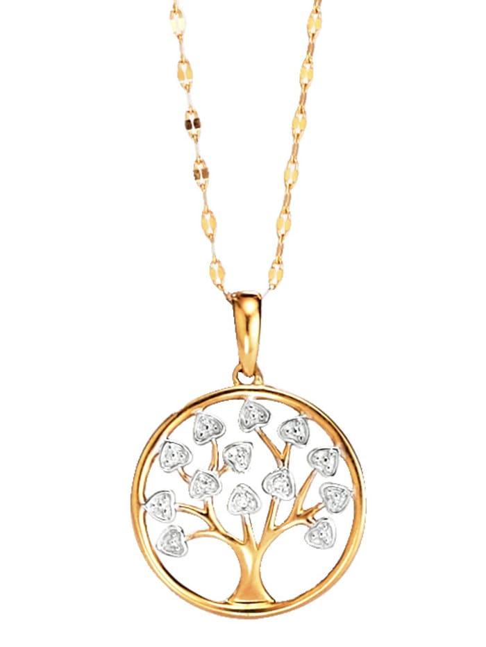 Baum-Anhänger mit Diamant WENZ Gelbgoldfarben